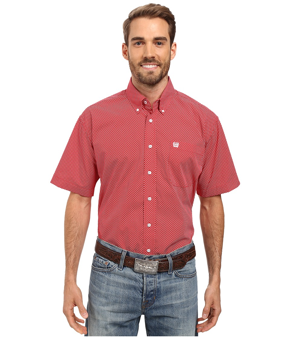Cinch - Short Sleeve Print (Red) Men's Clothing
