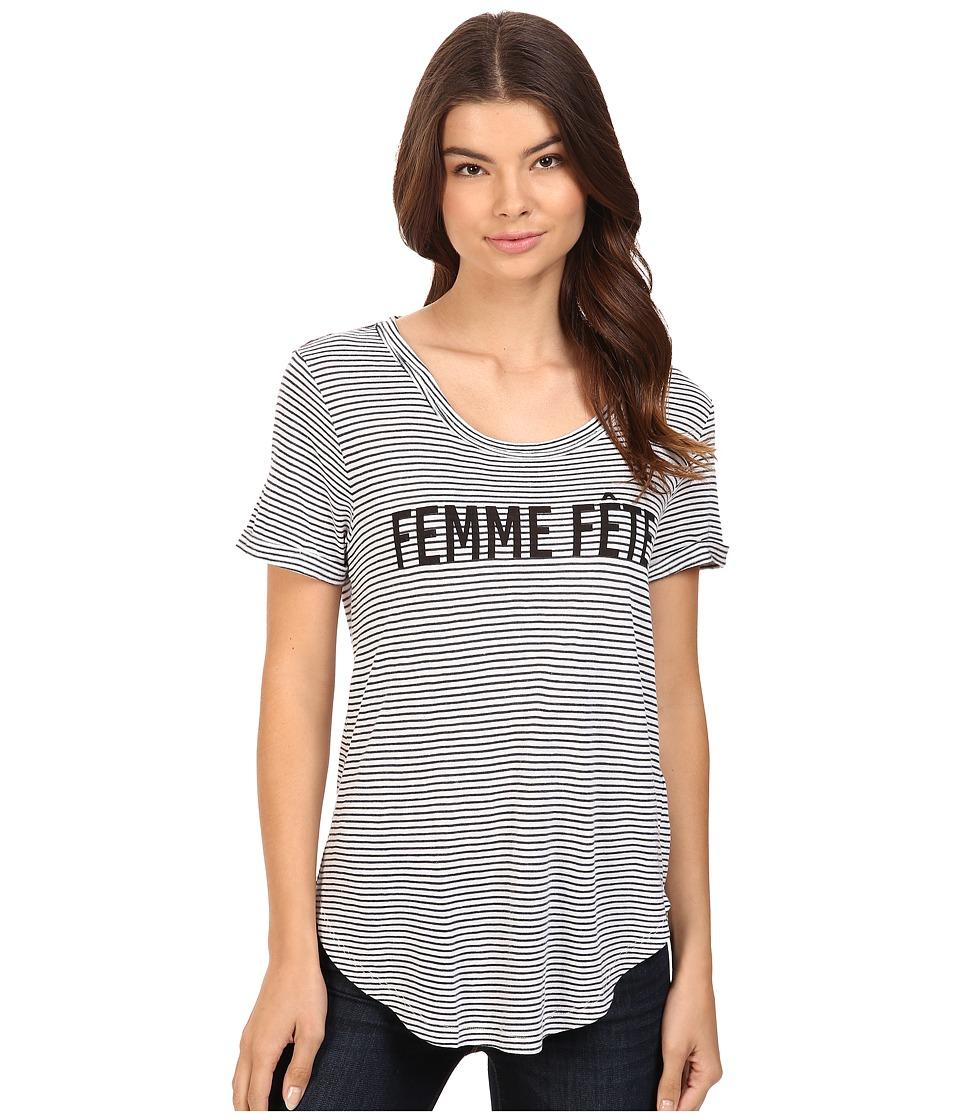 Splendid - Femme Fete Tee (Navy/White) Women's T Shirt