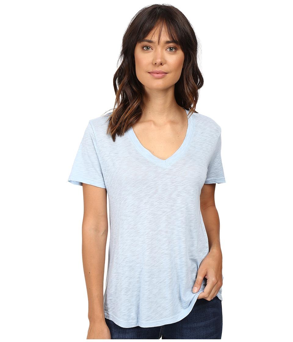 Splendid - Slub Jersey V-Neck (Mist) Women's Short Sleeve Pullover