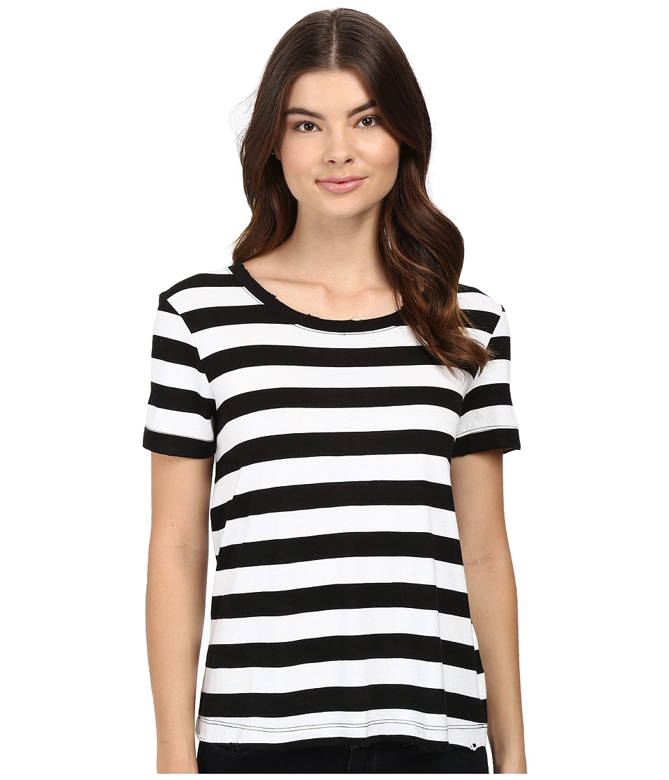 Splendid - Delcia Rugby Stripe Tee (White/Black) Women's T Shirt