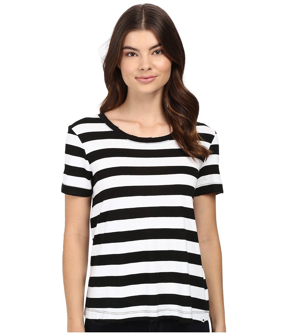 Splendid - Delcia Rugby Stripe Tee (White/Black) Women's T Shirt