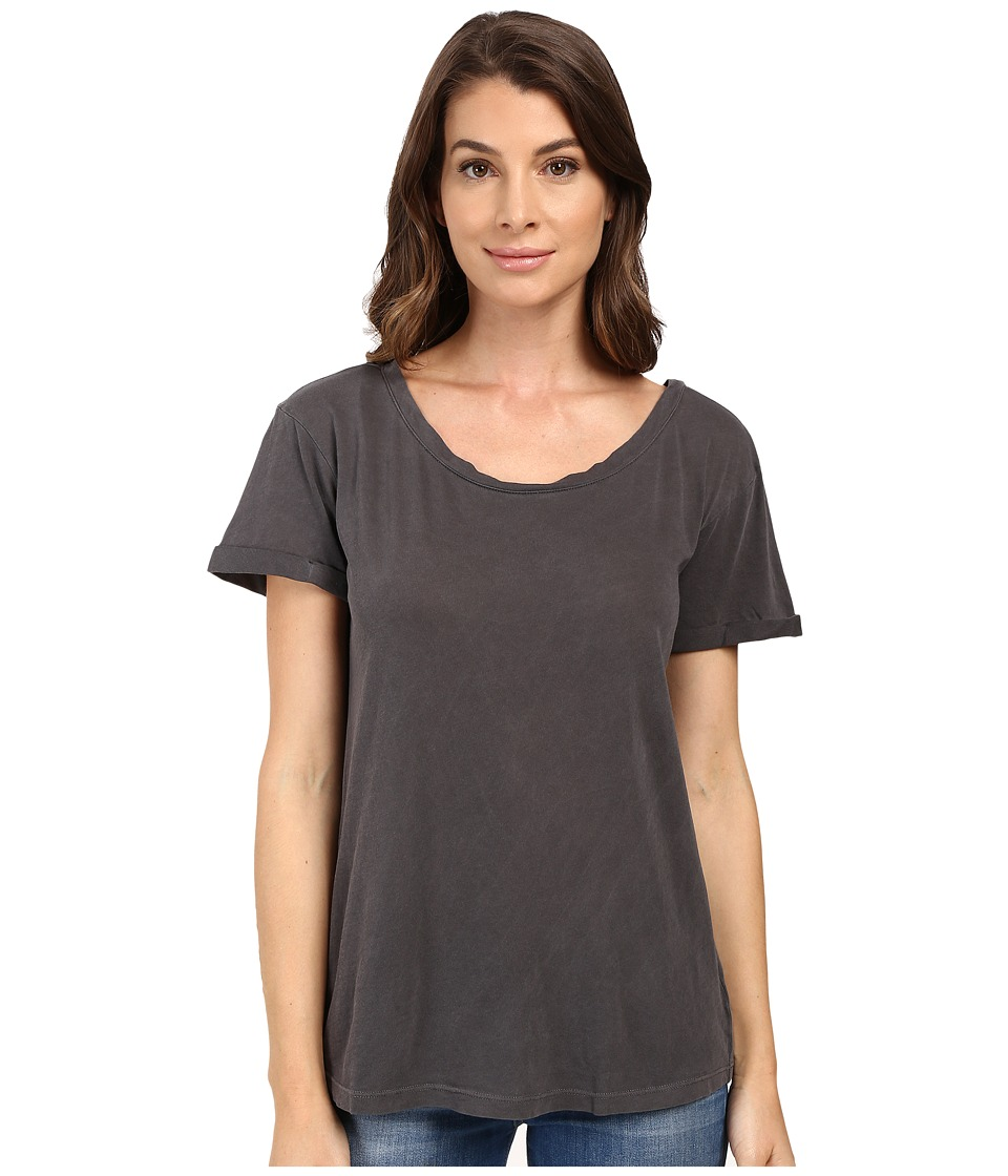 Splendid Vintage Whisper Cuffed Tee (Lead) Women