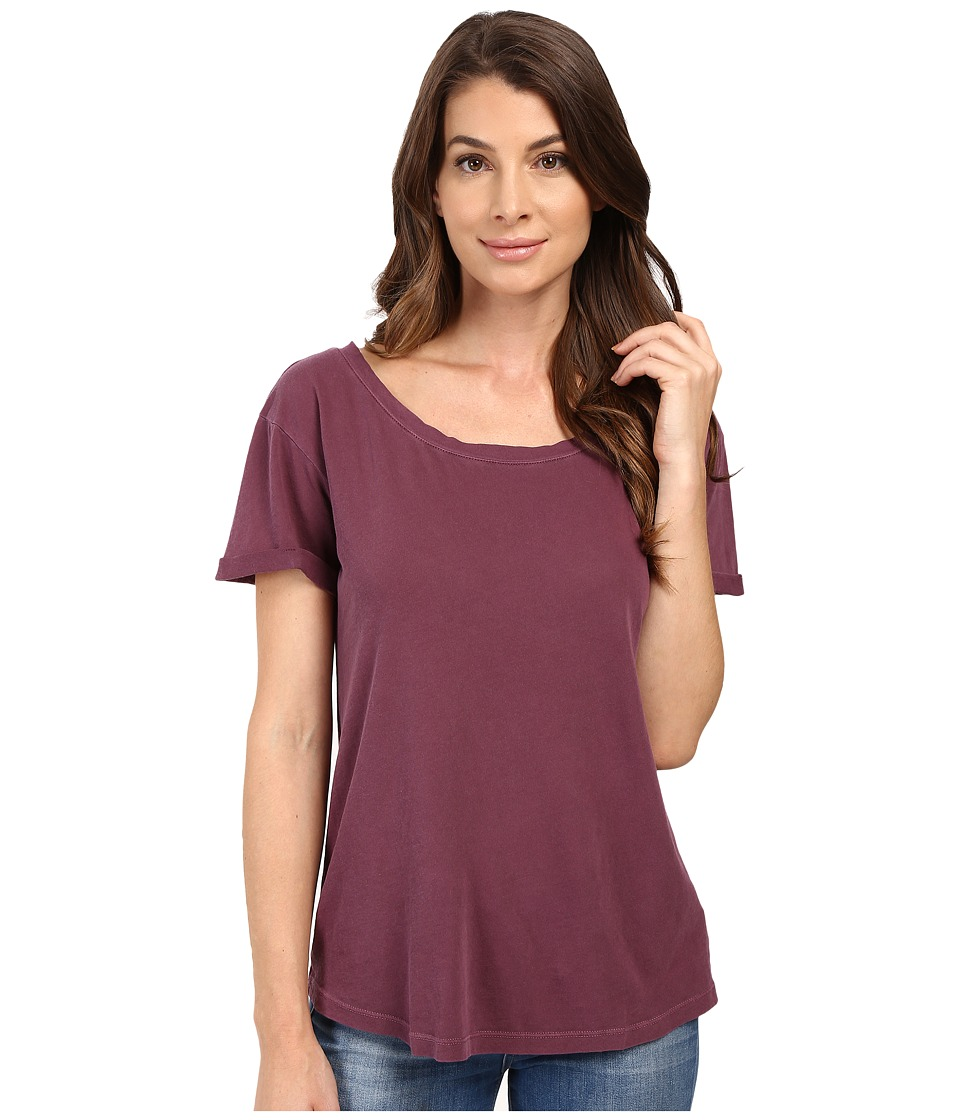 Splendid Vintage Whisper Cuffed Tee (Grape) Women