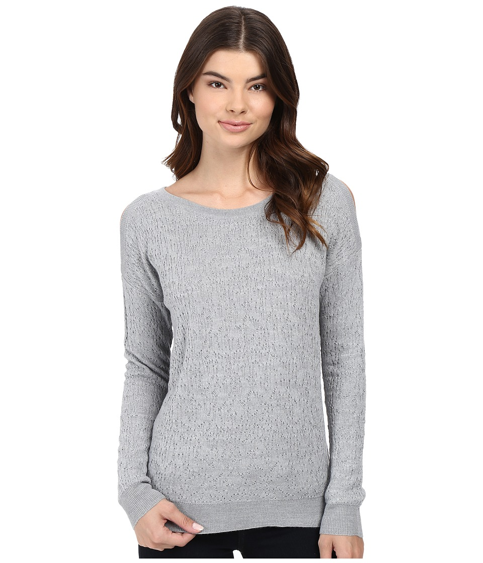 Splendid - Lyon Lace Cold Shoulder (Heather Grey) Women's Clothing