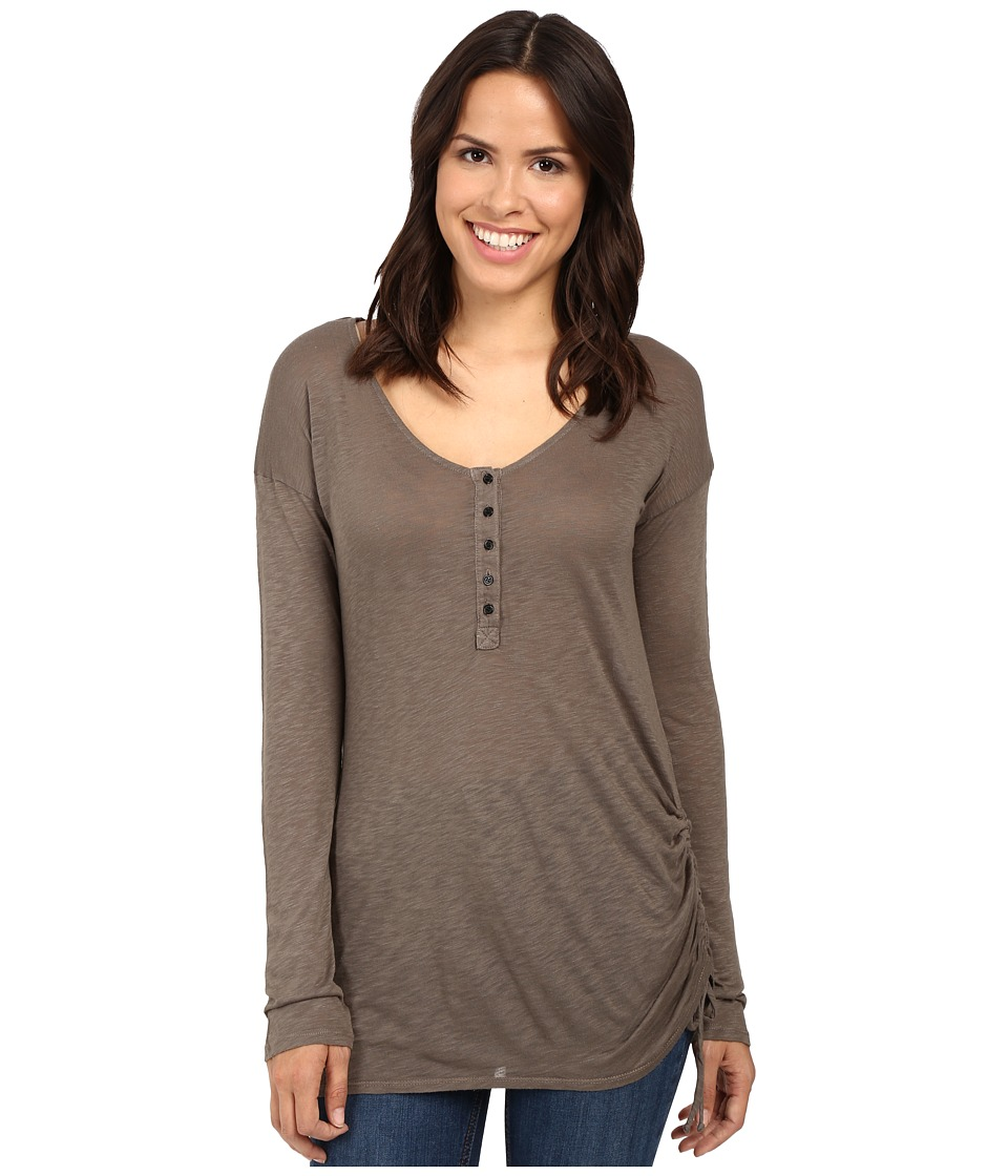 Splendid - Slub Henley with Side Tie (Military Olive) Women's Clothing
