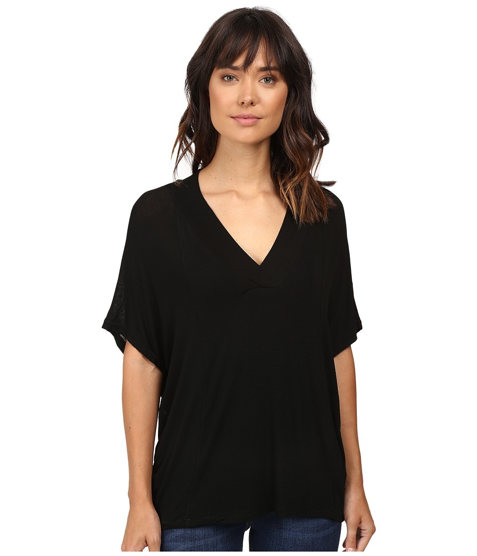 Splendid - Drapey Lux Poncho (Black) Women's Clothing