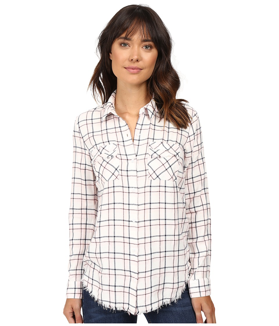 Splendid - Marguerite Flannel Plaid (Natural) Women's Long Sleeve Button Up