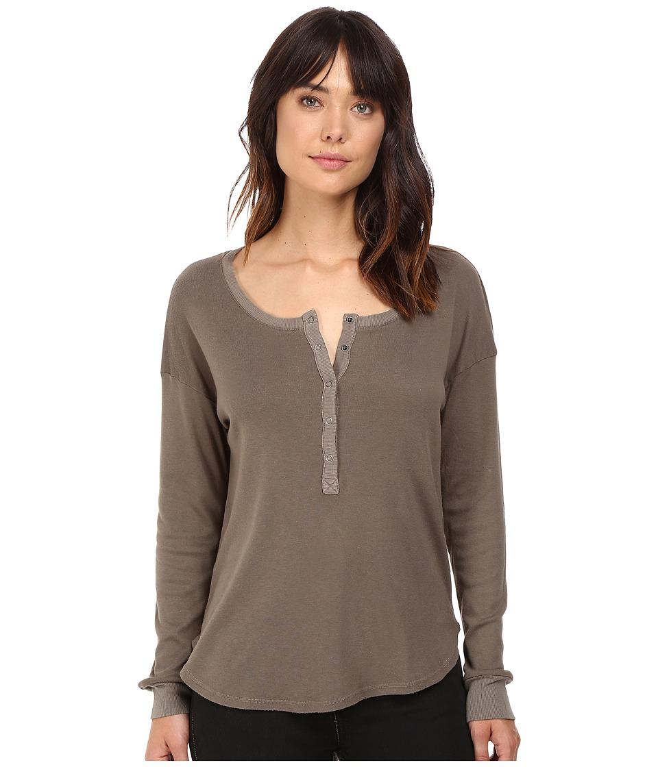 Splendid - 1X1 Henley (Military Olive) Women's Clothing