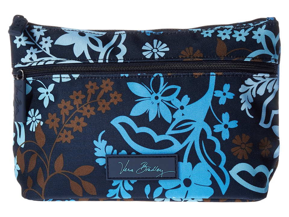 Vera Bradley Luggage Lighten Up Travel Cosmetic (Java Floral) Cosmetic Case