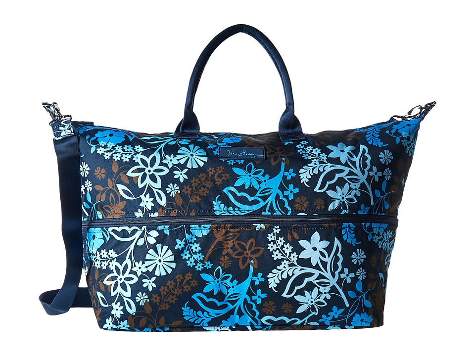 Vera Bradley Luggage - Lighten Up Expandable Travel Bag (Java Floral) Weekender/Overnight Luggage