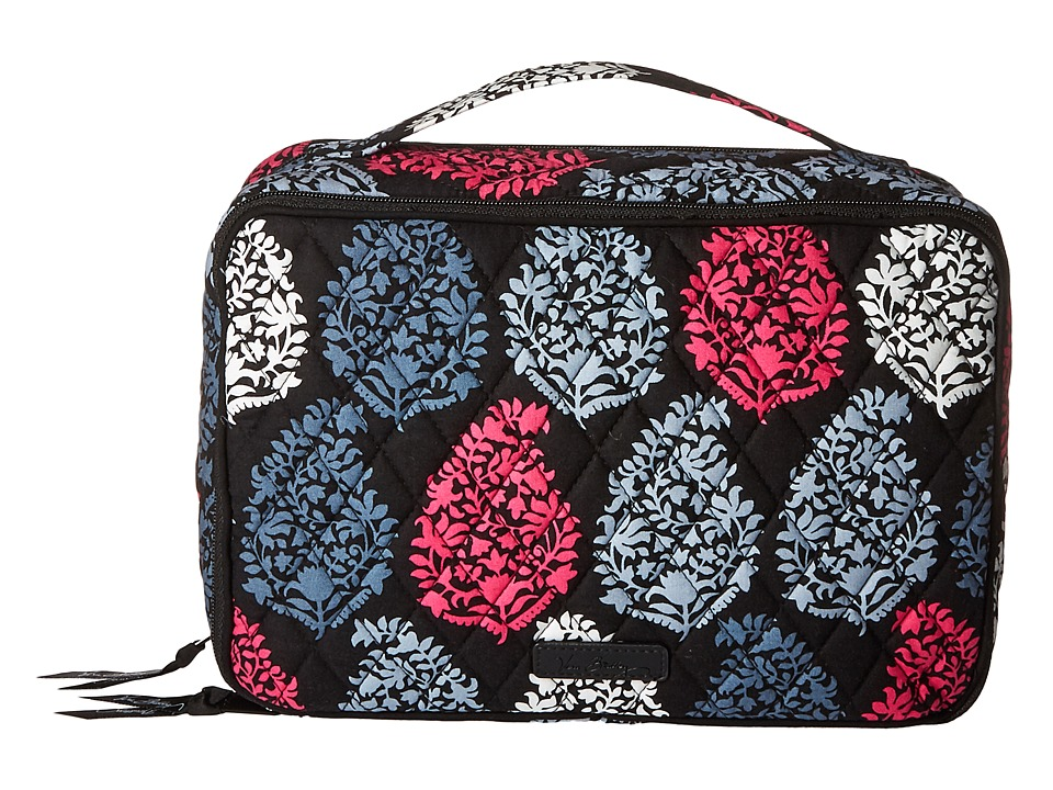 Vera Bradley Luggage Large Blush Brush Makeup Case (Northern Lights) Cosmetic Case