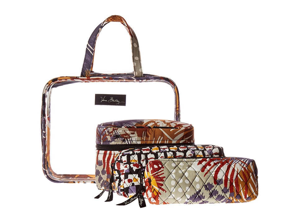 Vera Bradley Luggage - Four-Piece Cosmetic Organizer (Painted Feathers) Cosmetic Case