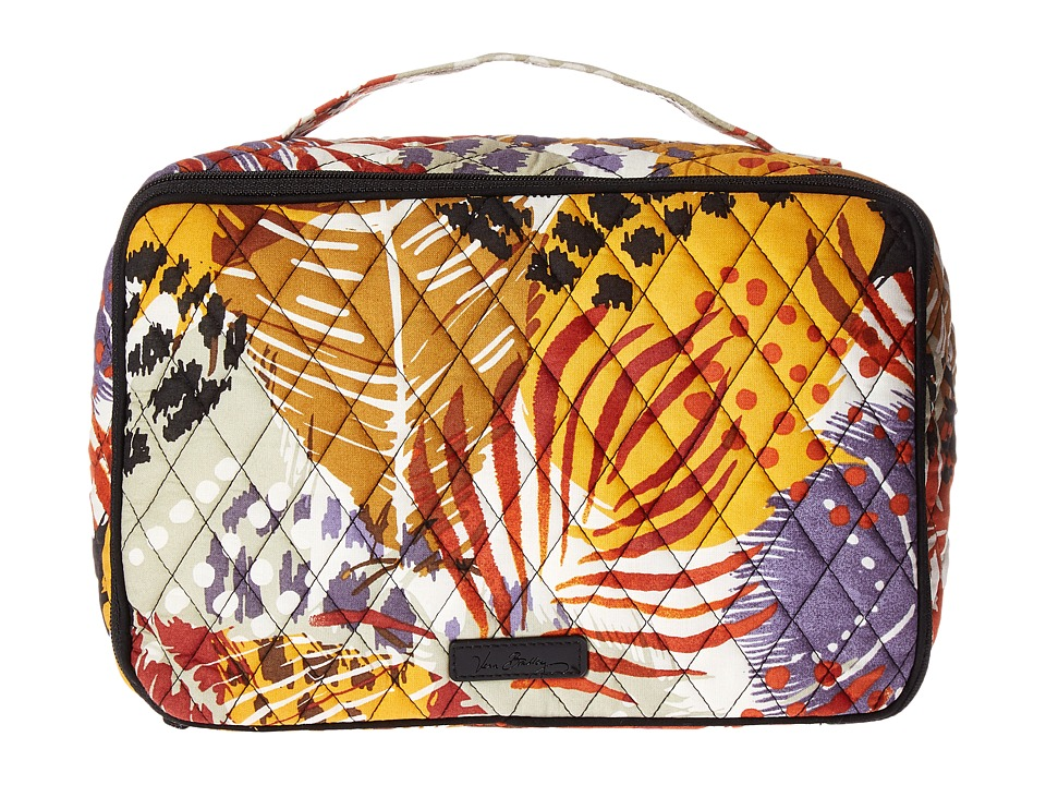 Vera Bradley Luggage Large Blush Brush Makeup Case (Painted Feathers) Cosmetic Case