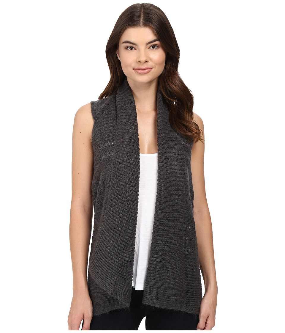 Splendid - Pointelle Gilet Vest (Charcoal) Women's Vest