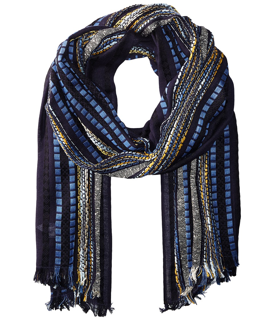 Echo Design - Woven Trail Oblong (Navy) Scarves
