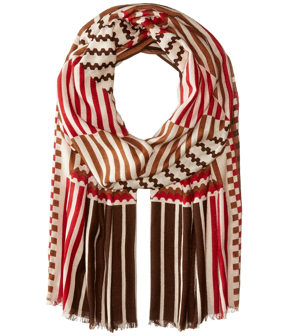 Echo Design - All Striped Up Oblong (Coffee) Scarves
