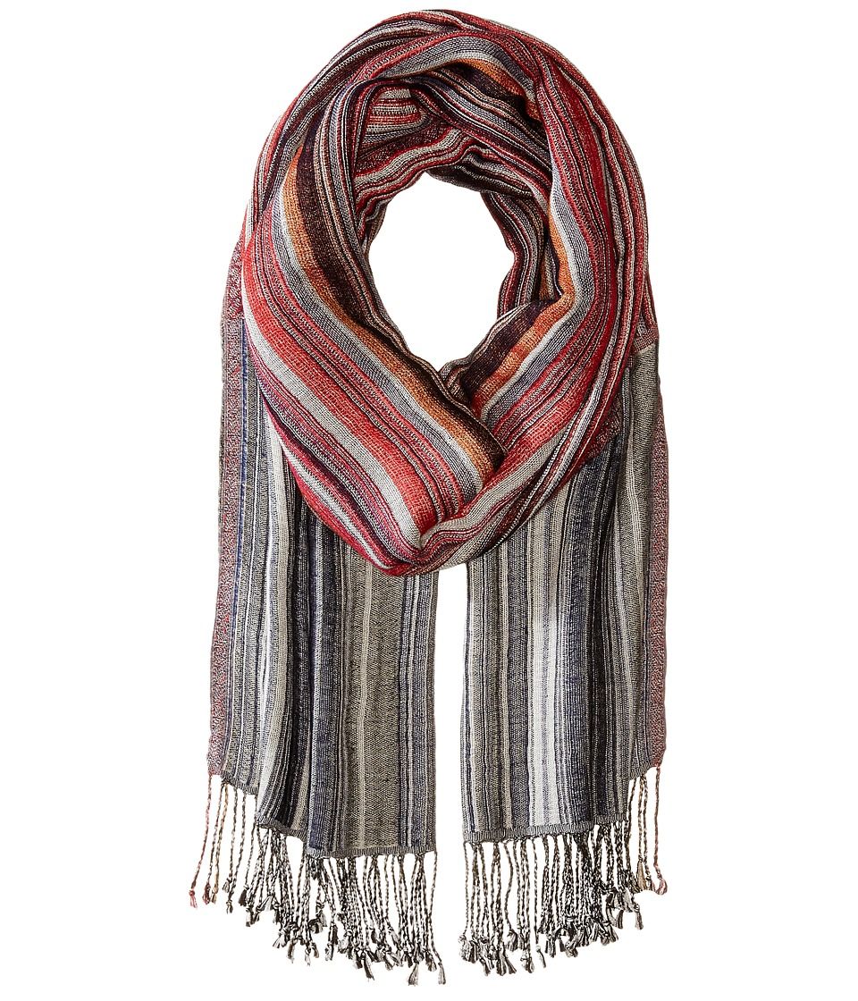 Echo Design - King of Stripes Wrap (Painter Red) Scarves