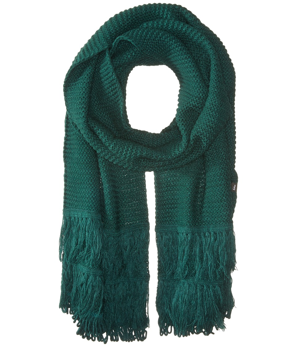 Echo Design - Solid Fringy Muffler (Rich Jade) Scarves