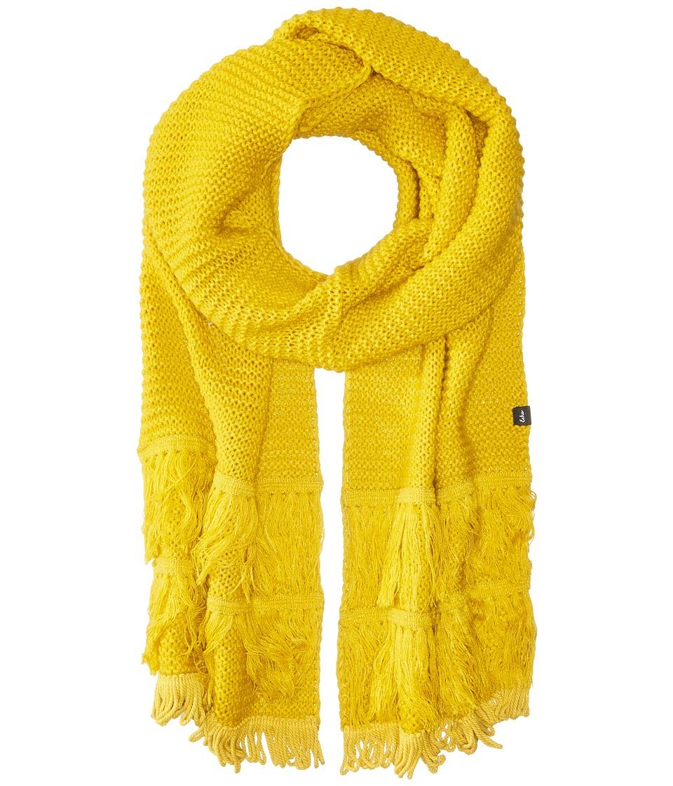 Echo Design - Solid Fringy Muffler (Mustard) Scarves
