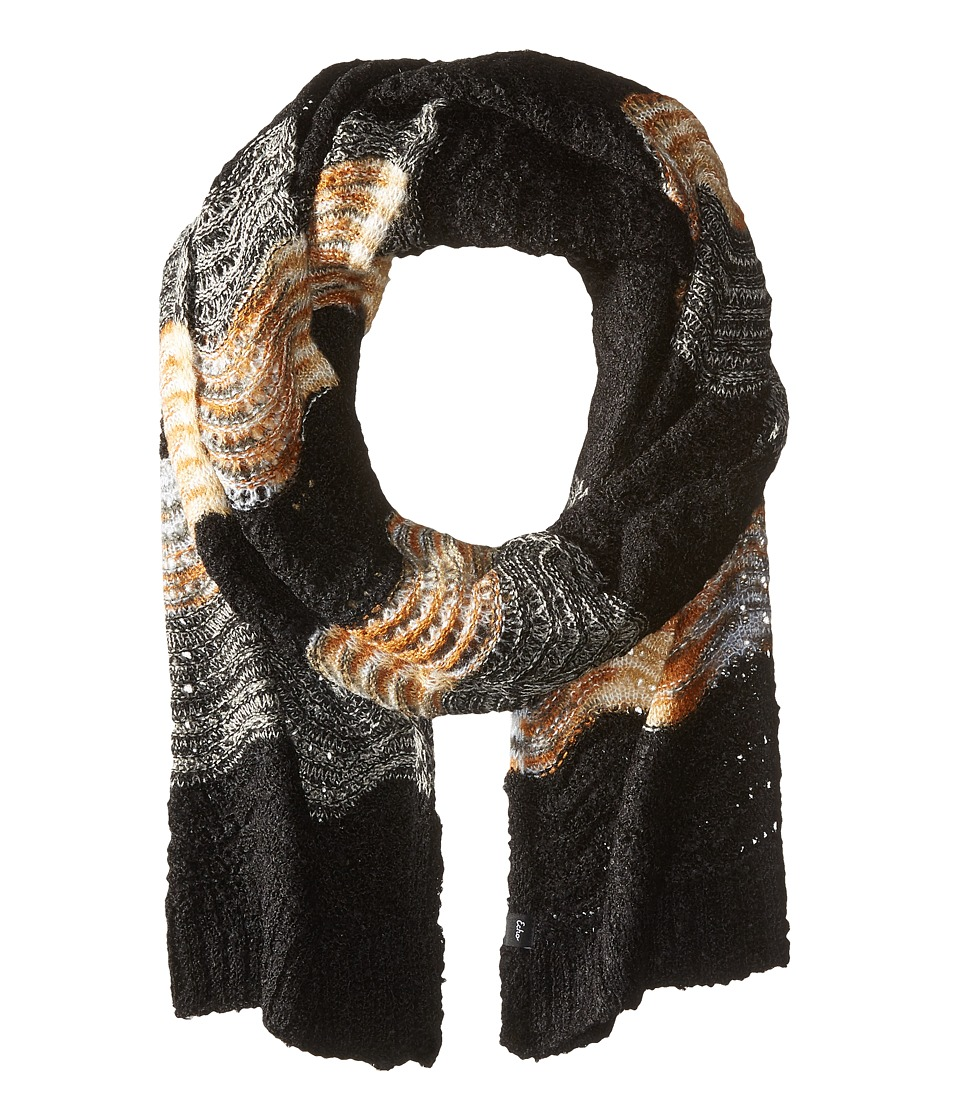 Echo Design - Glacier Waves Muffler (Black) Scarves