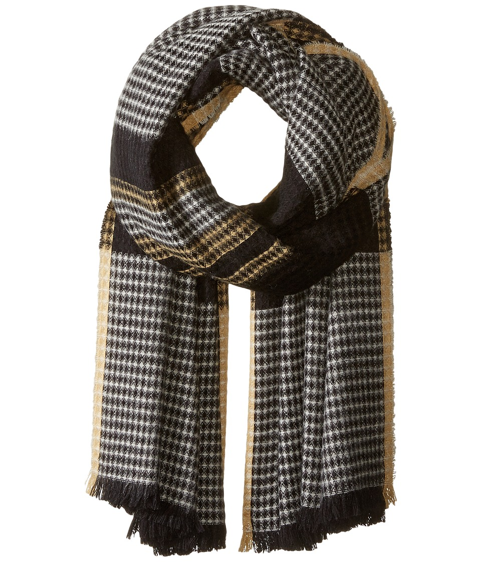Echo Design - Diamond Plaid Wrap (Black) Scarves