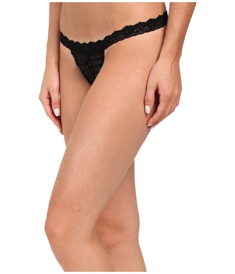 Hanky Panky - Shadow Stripe Open G-String (Black) Women's Underwear