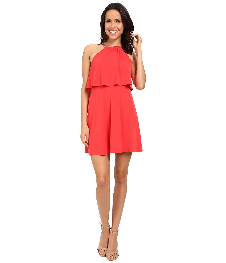 Jessica Simpson - Solid Pop Over Dress JS6D8646 (Poppy Red) Women's Dress