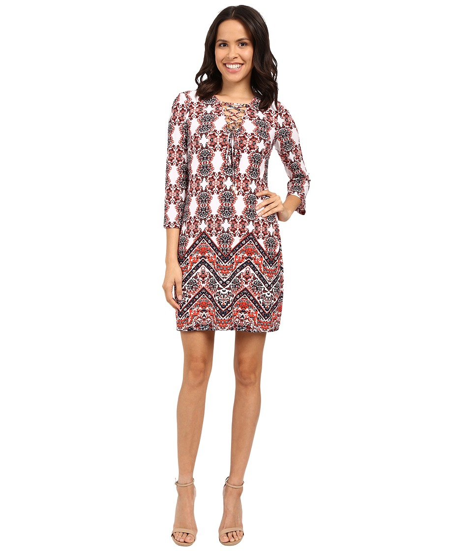 Jessica Simpson - Printed Boho Dress JS6D8700 (Print) Women's Dress