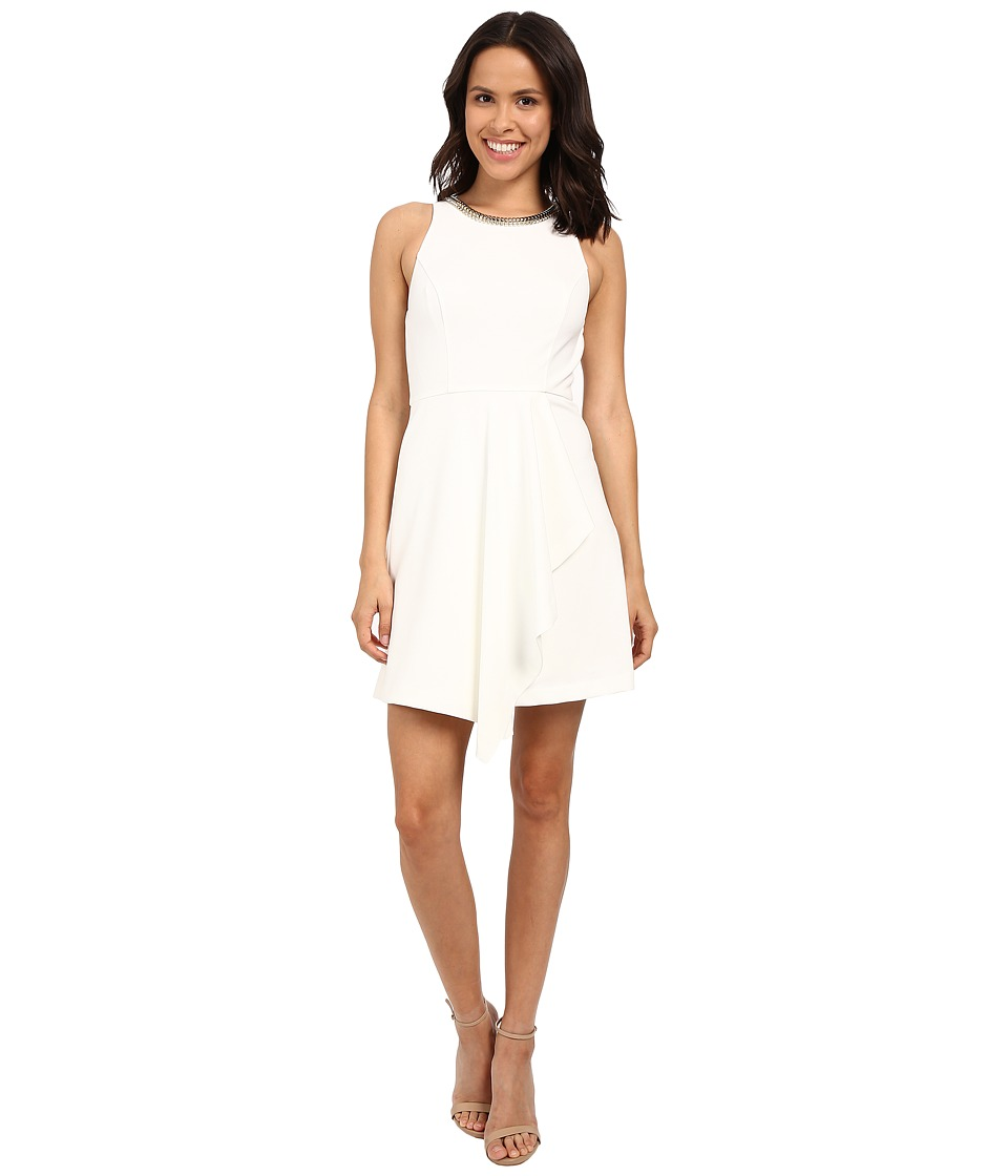 Jessica Simpson Fit Flare Dress with Skirt Overlay JS6D8692 (Ivory) Women