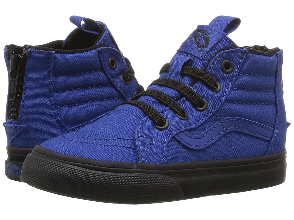Vans Kids Sk8-Hi Zip (Toddler) ((Black Outsole) True Blue/Black) Boys Shoes