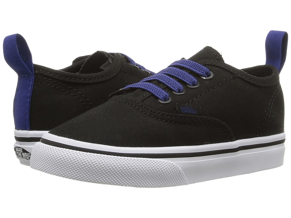 Vans Kids - Authentic V Lace (Toddler) ((Pop) Black/Sodalite Blue) Boys Shoes
