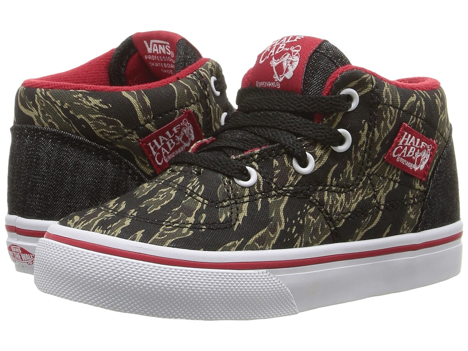 Vans Kids Half Cab (Toddler) ((Camo & Denim) True White) Boys Shoes