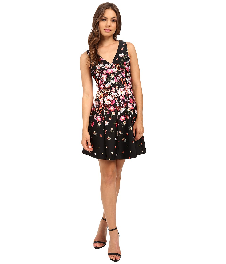 Jessica Simpson - Floral Printed Fit Flare Dress JS6D8716 (Print) Women's Dress