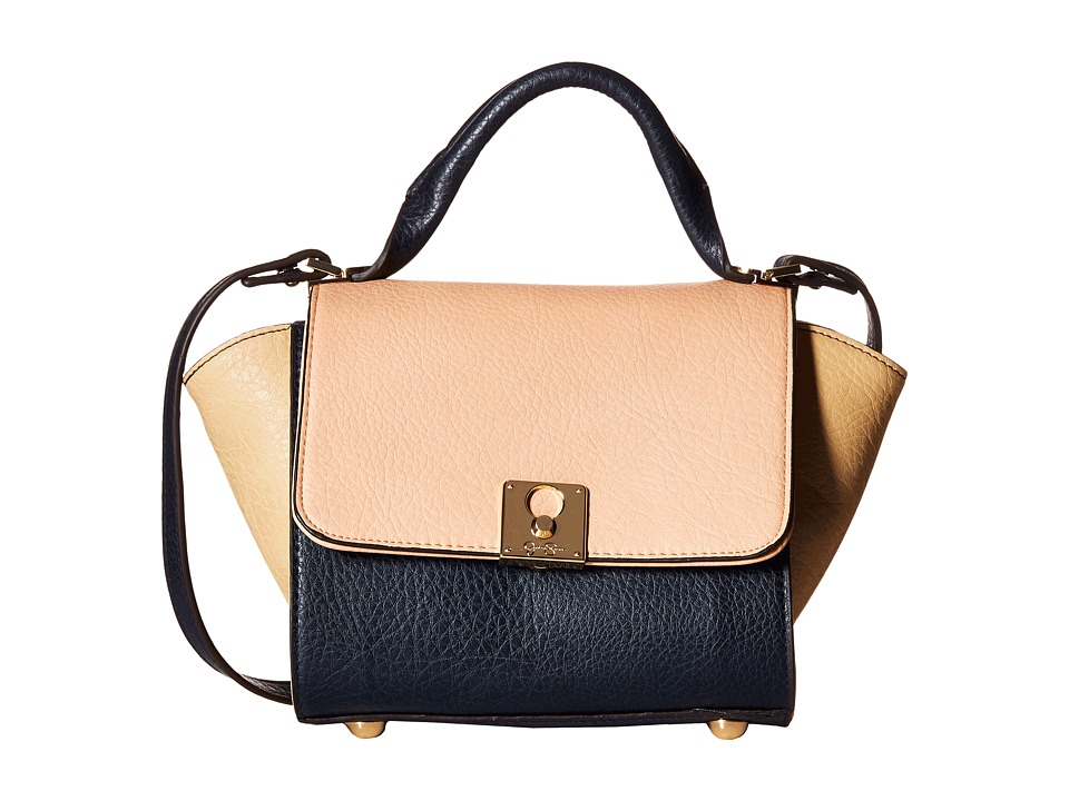 Jessica Simpson - Gina Flap Crossbody (Ink/Peach/Beige) Cross Body Handbags
