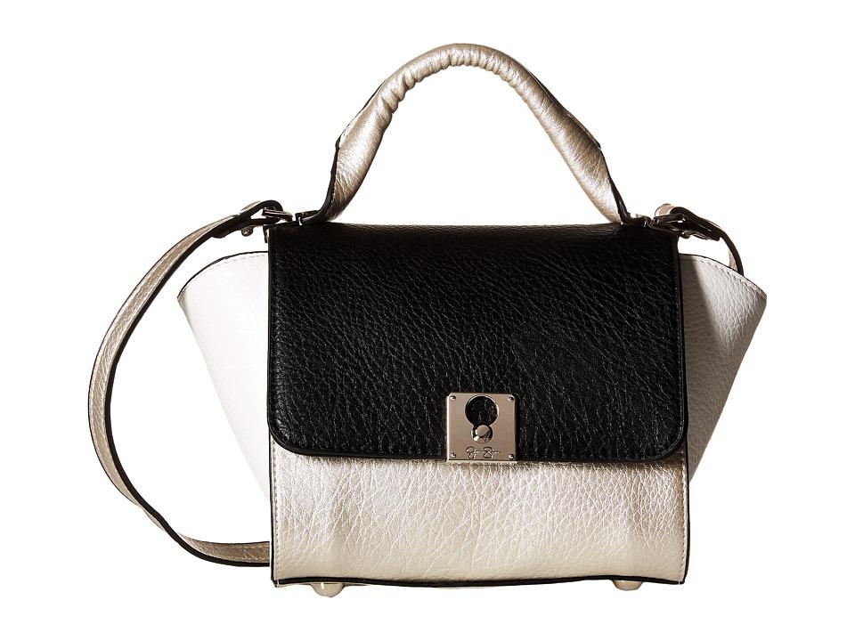 Jessica Simpson - Gina Flap Crossbody (Light Silver/Black/White) Cross Body Handbags