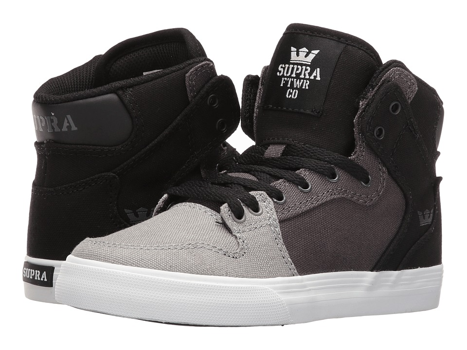 Supra Kids - Vaider (Little Kid/Big Kid) (Gray Gradient Canvas) Boys Shoes