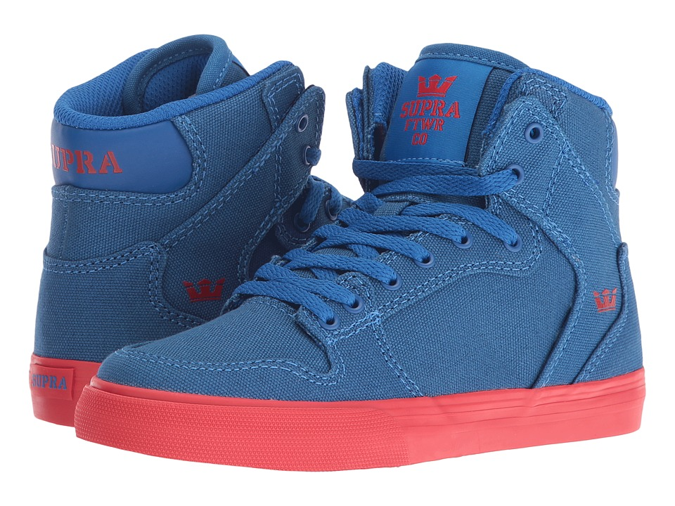 Supra Kids - Vaider (Little Kid/Big Kid) (Snorkel Blue Canvas) Boys Shoes