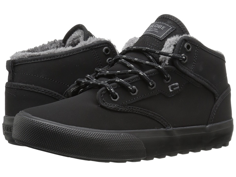 Globe - Motley Mid (Black/Black Fur) Men's Skate Shoes