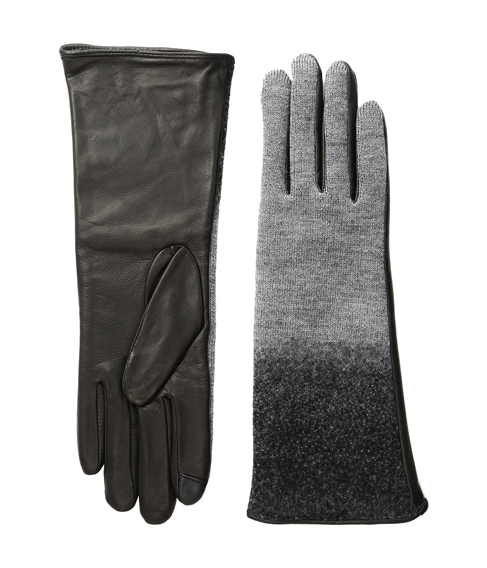 Echo Design - Echo Touch Ombre Leather Gloves (Black) Extreme Cold Weather Gloves