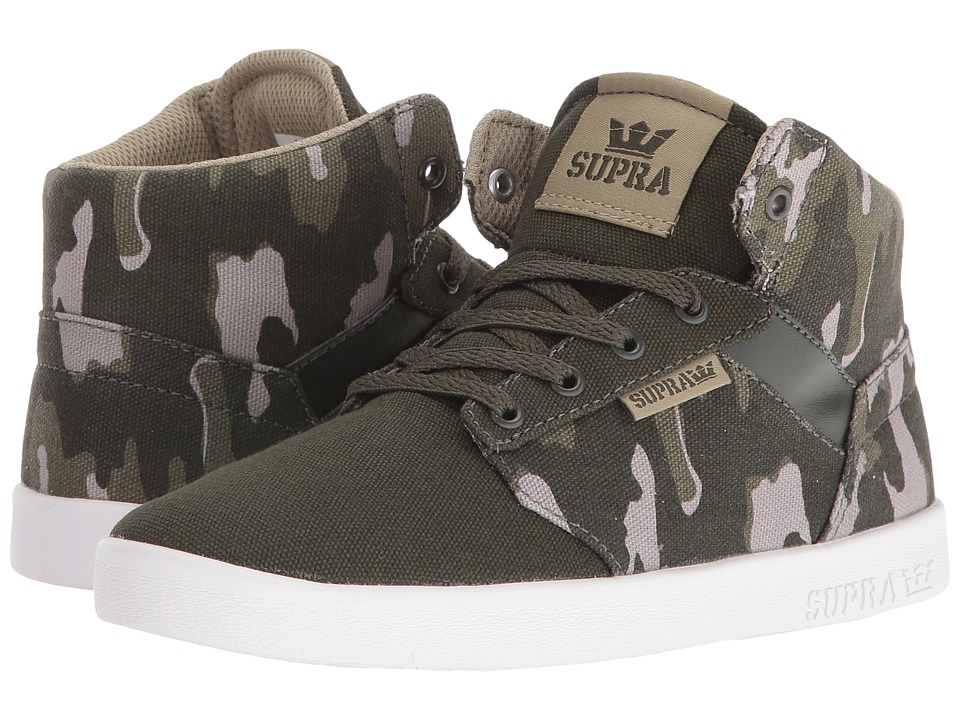 Supra Kids Yorek High (Little Kid/Big Kid) (Rosin Camo Print Canvas) Boys Shoes