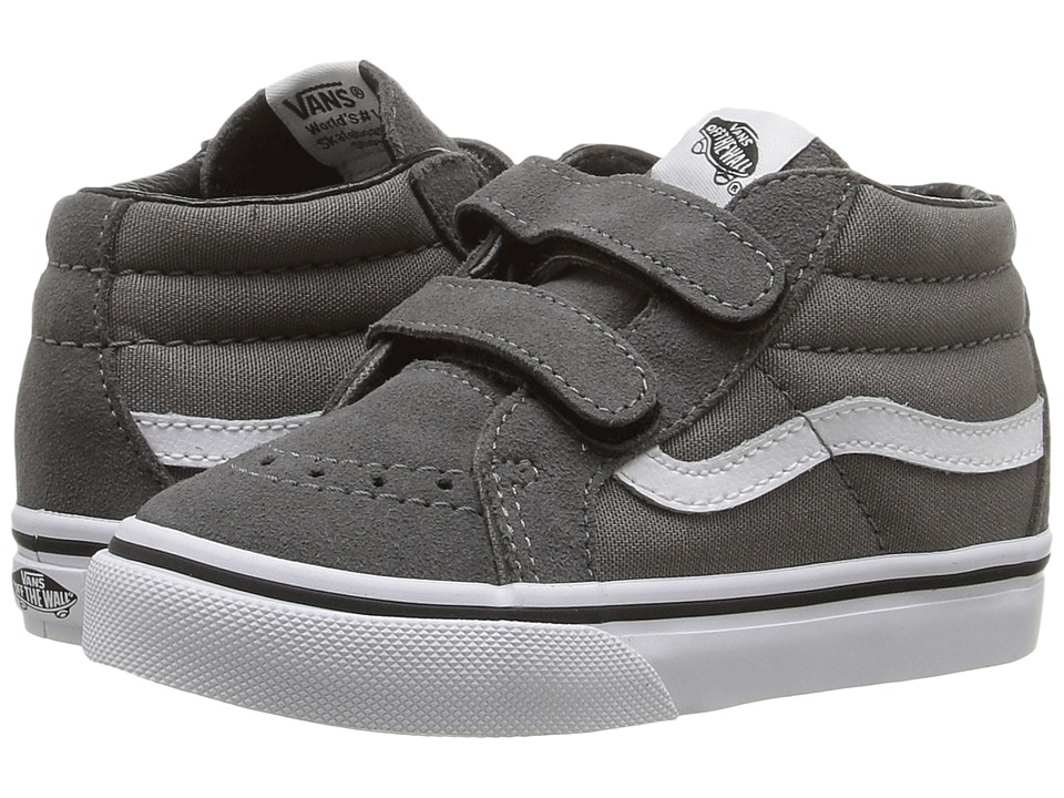 Vans Kids - Sk8-Mid Reissue V (Toddler) ((Canvas & Suede) Charcoal) Boys Shoes