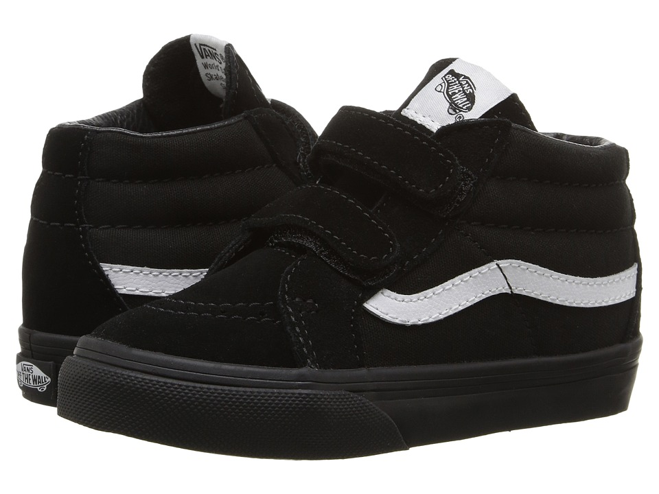 Vans Kids - Sk8-Mid Reissue V (Toddler) ((Canvas & Suede) Black/Black) Boys Shoes