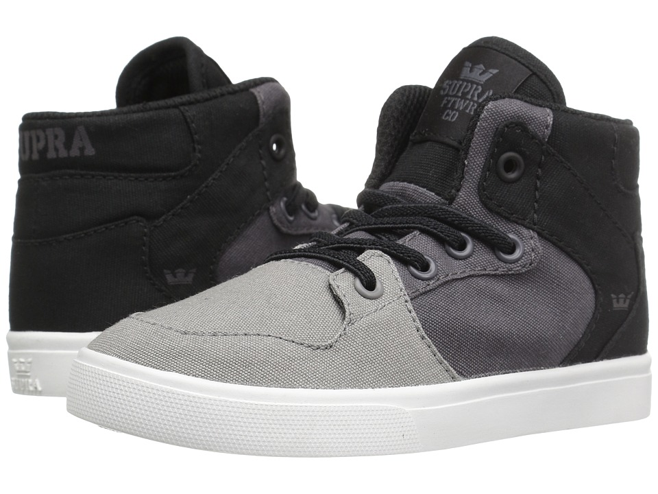 Supra Kids - Vaider (Toddler) (Griffin/Magnet Canvas) Boy's Shoes
