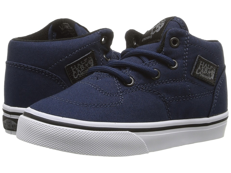 Vans Kids Half Cab (Toddler) ((Canvas/Military) Dress Blue/White) Boys Shoes