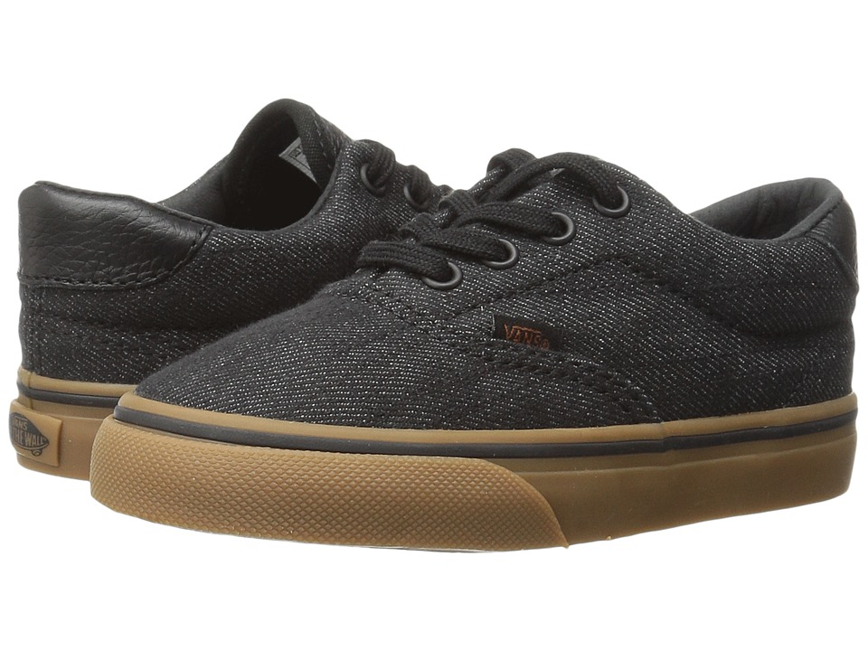 Vans Kids - Era 59 (Toddler) ((Denim C & L) Black/Gum) Boy's Shoes