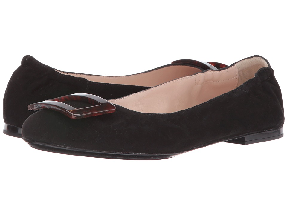 Sesto Meucci - 28439 (Black Suede) Women's Flat Shoes