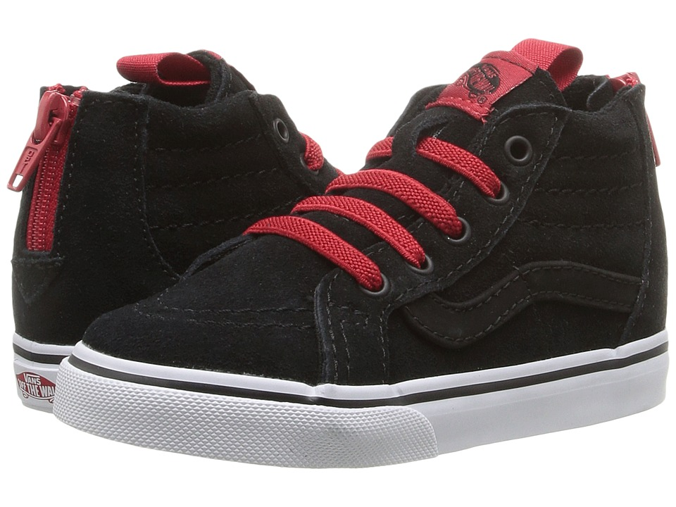 Vans Kids - Sk8-Hi Zip (Toddler) ((MTE) Black/Racing Red) Boys Shoes