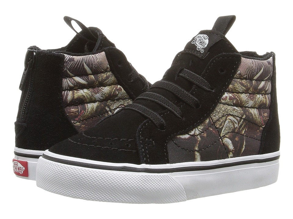 Vans Kids Sk8-Hi Zip (Toddler) ((Triceratops) Black/True White) Boys Shoes