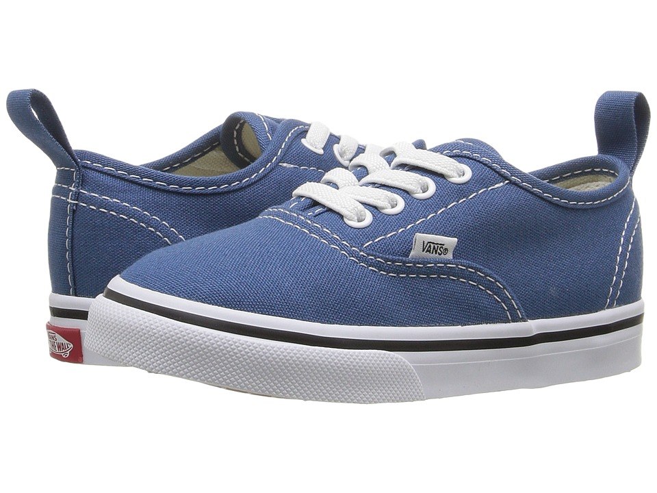 Vans Kids - Authentic Elastic Lace (Toddler) ((Elastic Lace) Navy/True White) Kids Shoes