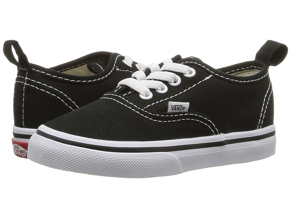 Vans Kids - Authentic Elastic Lace (Toddler) ((Elastic Lace) Black/True White) Kids Shoes